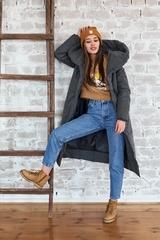 Пальто женское зимнее графит