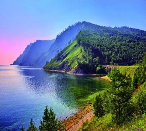 Алмазная Мозаика 30x40 Озеро Байкал (арт. ZX10395 )