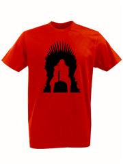 Футболка с принтом Игра престолов (Game of Thrones) красная 001