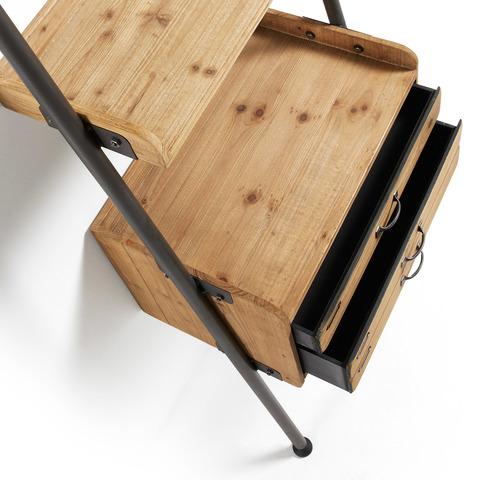 Стеллаж Belamo из дерева и железа с ящиками
