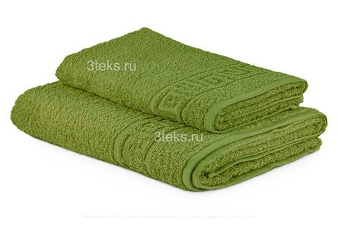 Полотенце махровое гладкокрашеное (Светло-Оливковый)