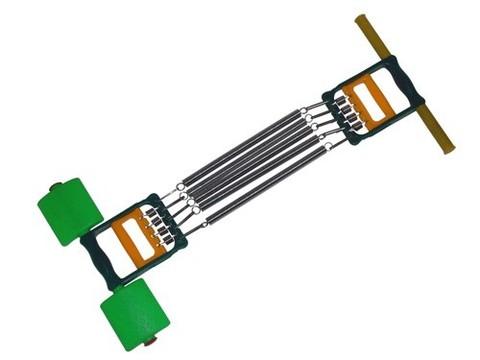 Эспандер плечевой 3 в 1 п.  5 пружин. ( L-26 см )  Включает в себя эспандер плечевой, эспандер для пресса и спины, эспандер кистевой пружинный, крепление для ног. Индивидуальная картонная упаковка. :(4004):