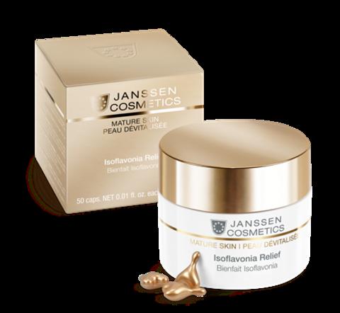 Капсулы с фитоэстрогенами Isoflavonia Relief, Mature Skin, Janssen Cosmetics, 50 шт