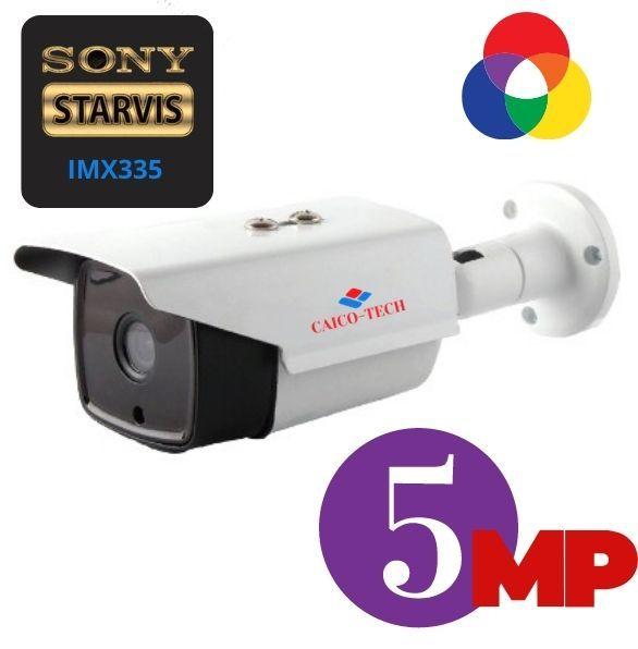 Уличная видеокамера наблюдения CAICO TECH QH-50WD CMOS SONY IMX 335 5Mpix Гибрид 4 в 1 AHD CVI TVI CVBS