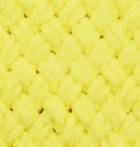 Пряжа Puffy Alize 552 Неоновый желтый фото