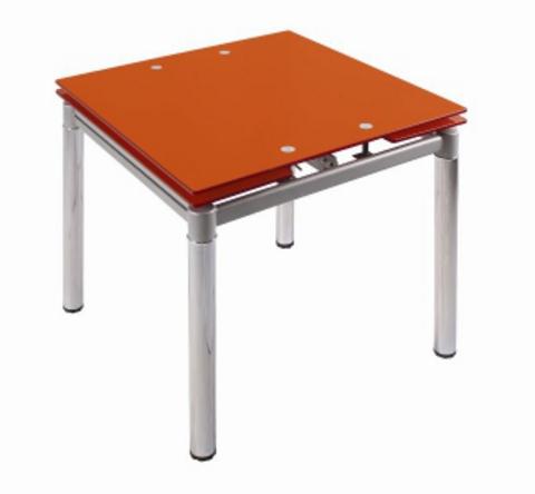 Стол обеденный раздвижной 179 оранжевый перламутр