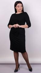 Тейлор. Вишукана жіноча сукня великих розмірів. Чорний.