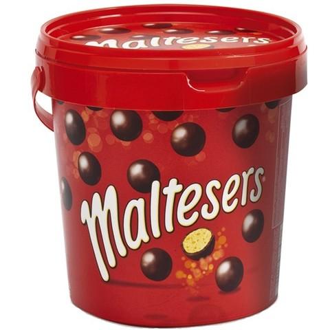 Шоколадные драже Maltesers в ведре 440 гр