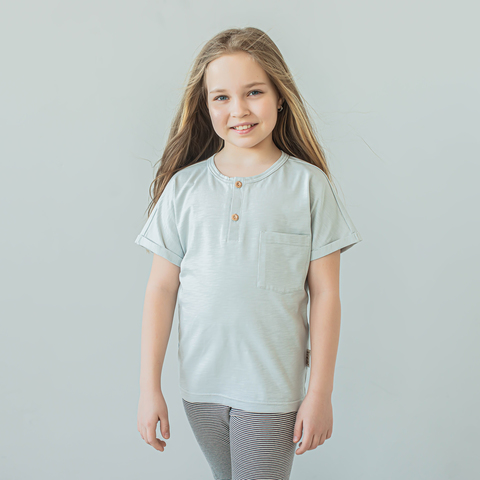 Polo T-shirt for teens - Hazy