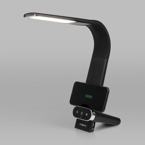 Светодиодная настольная лампа с беспроводной зарядкой 80427/1 черный