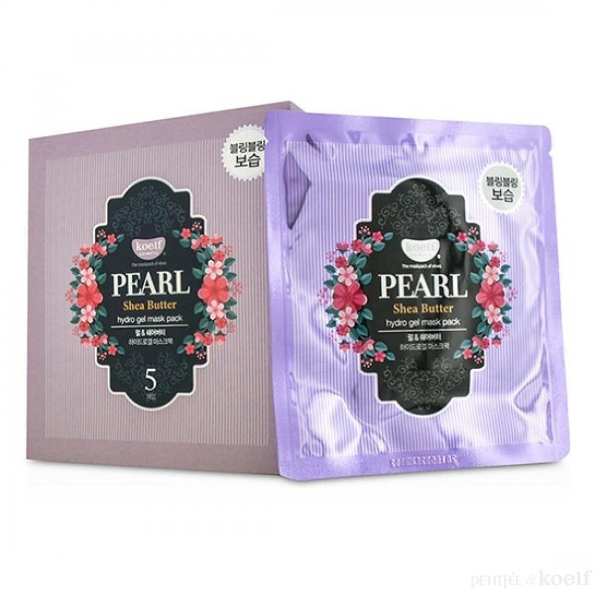 Гидрогелевая маска с жемчугом и маслом ши KOELF PEARL & SHEA BUTTER HYDRO GEL MASK PACK 1 шт