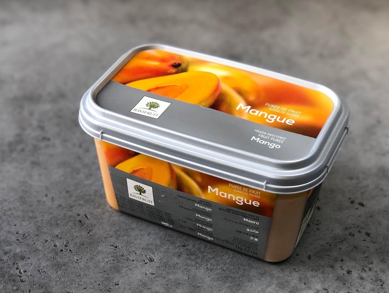 Фруктовое пюре замороженное Ravifruit Манго, 1 кг