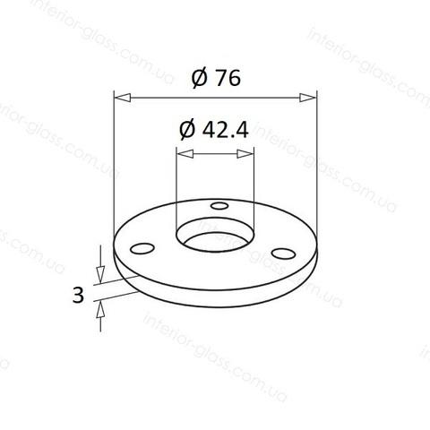 Фланец для стойки D=42,4 мм ST-433