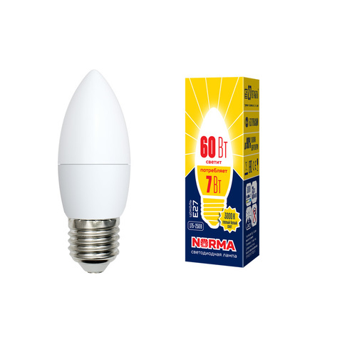 LED-C37-7W/WW/E27/FR/NR Лампа светодиодная. Форма