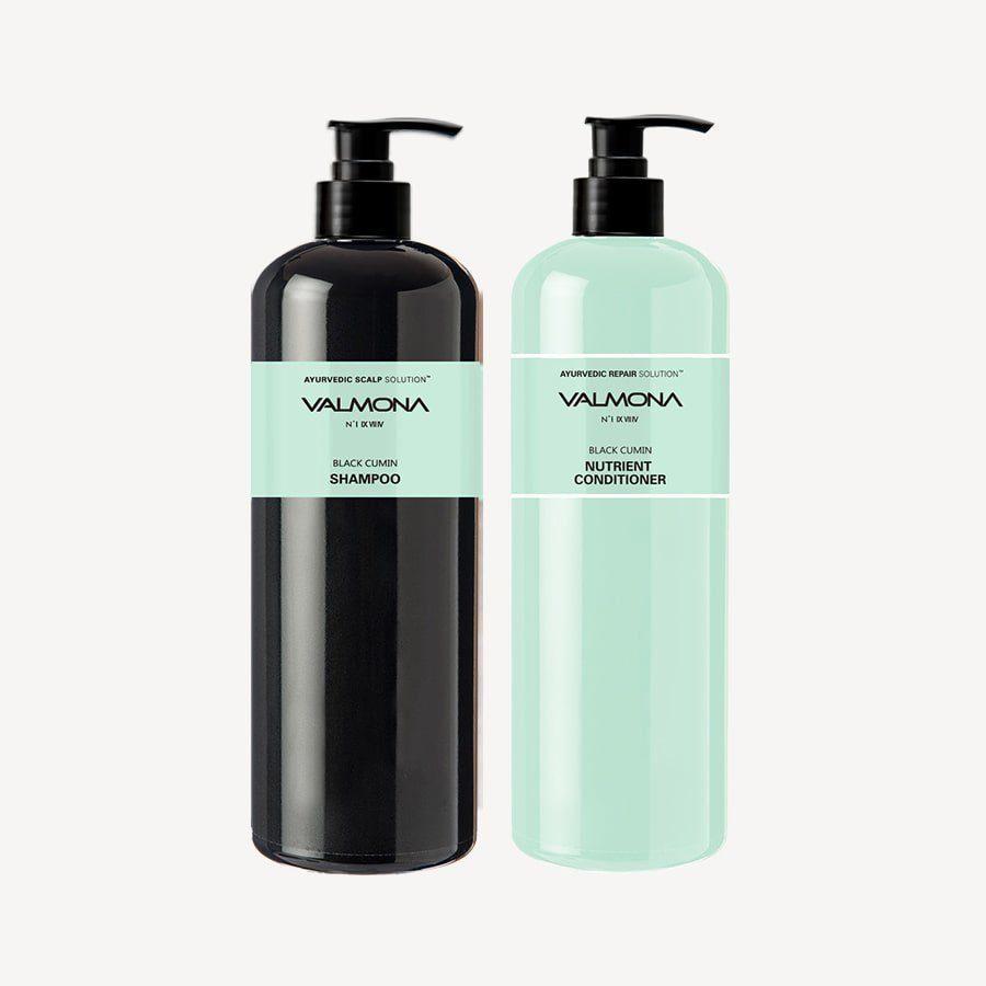 Шампунь для кожи головы и профилактики выпадения волос с черным тмином,480 мл, Valmona