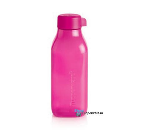 Бутылка Эко квадратная 500 мл в малиновом цвете