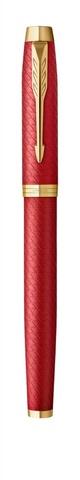 Ручка роллер Parker IM Premium T318  Red GT F черные чернила, в подарочной коробке123