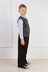 Детская школьная трикотажная жилетка