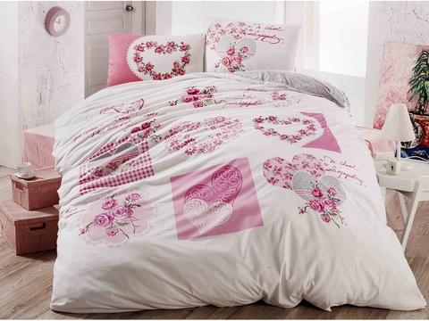 1.5-Спальное постельное белье ранфорс LOVELY