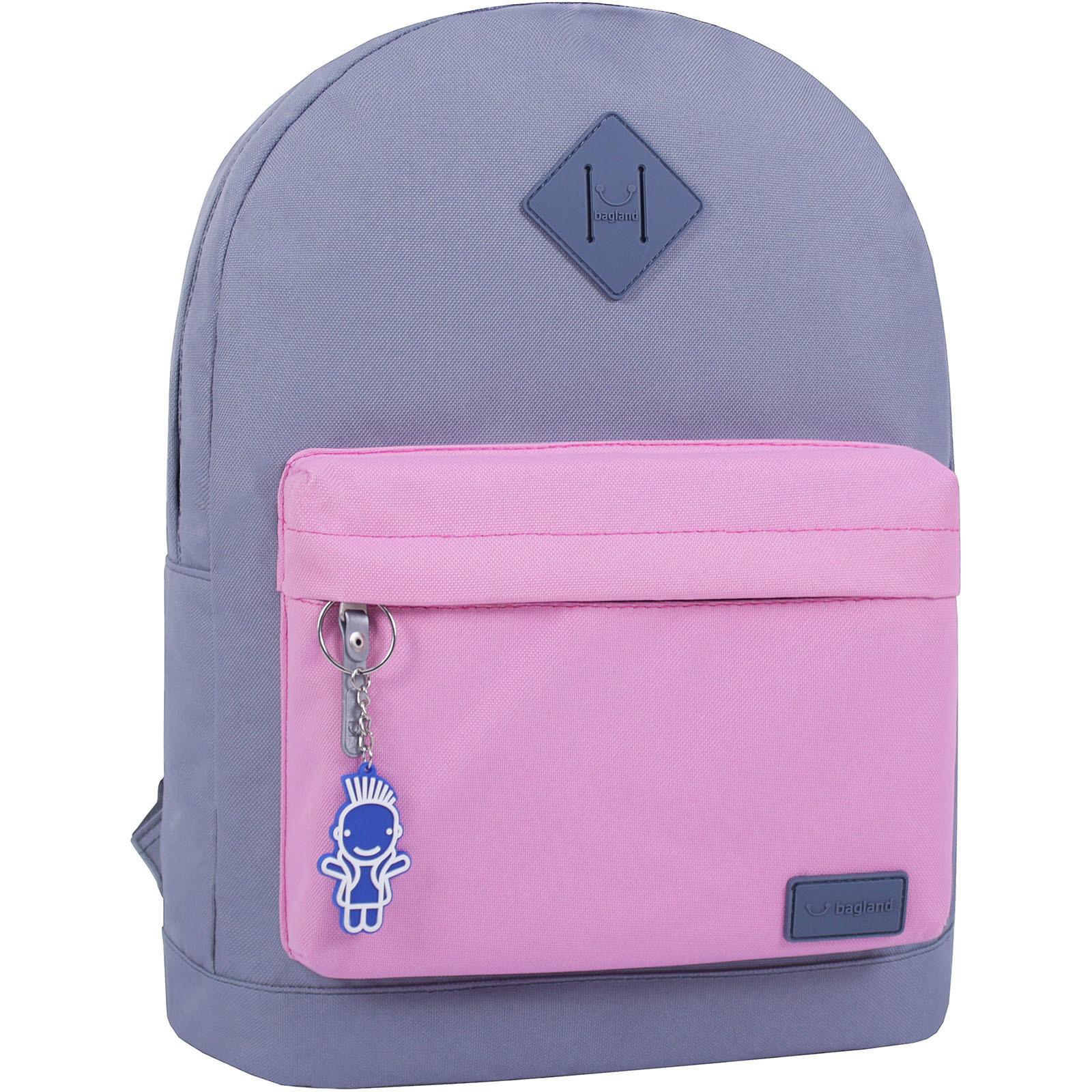 Городские рюкзаки Рюкзак Bagland Молодежный W/R 17 л. серый/розовый (00533662) IMG_0762.JPG