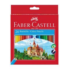 Карандаши цветные Faber-Castell Grip Eco Замок 24 цвета шестигранные