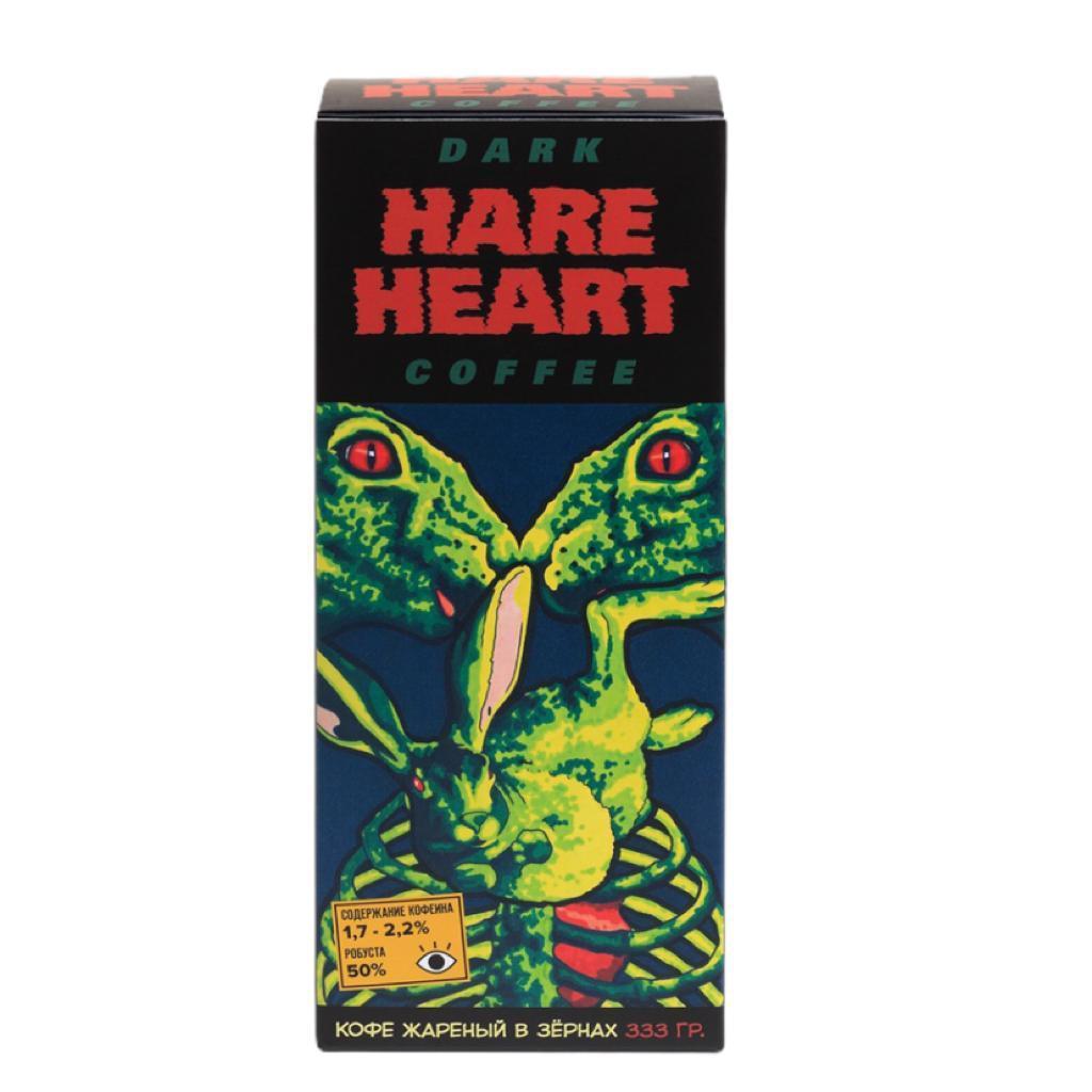 Подарочный набор Заячье сердце/HARE HEART. Выпуск #1 Кофеин. 50/50 (кофе в зернах 333 гр, комикс, открытка, магнит, бокс)