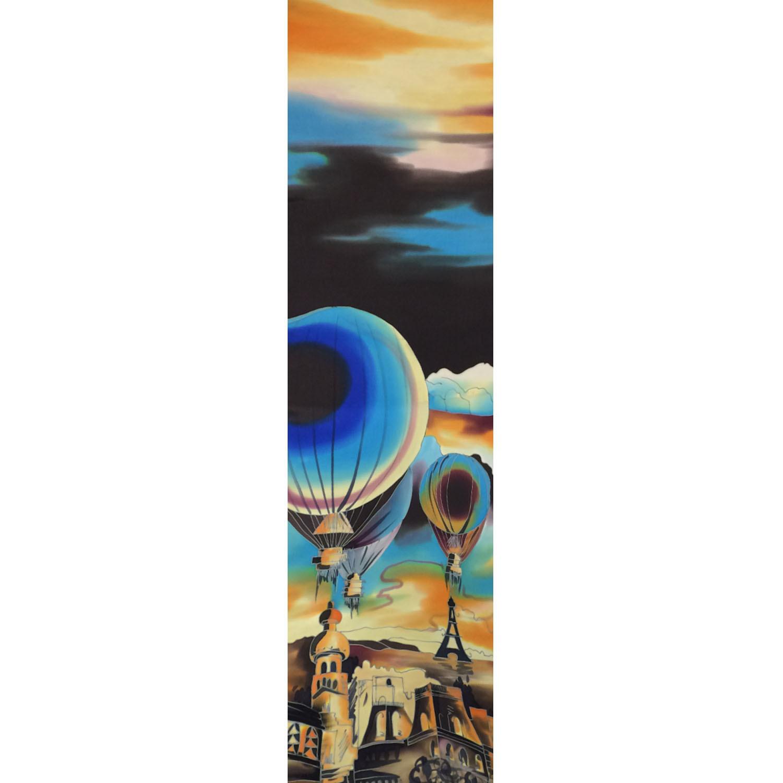 Шелковый шарф батик Ночной Париж