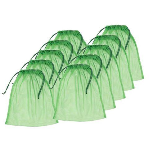 Большой набор средних зелёных экомешочков (10шт.)