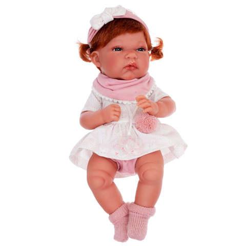 Munecas Antonio Juan Кукла Альберта в розовом, 33 см (6032)
