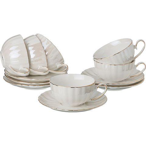 Чайный набор из фарфора на 6 персон 275-888