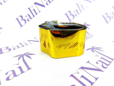 Фольга для дизайна ногтей, переводная (1 м) золото