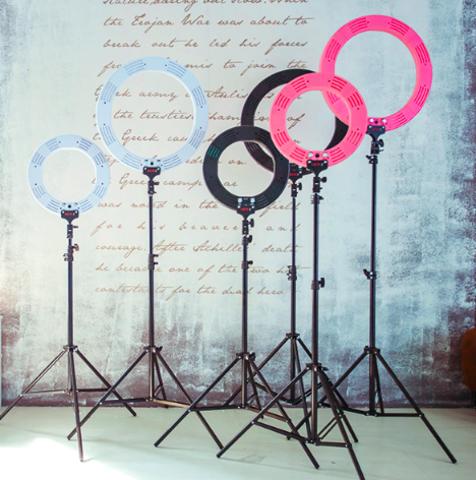 Кольцевая лампа (№6) Optimal 45 см (розовый)
