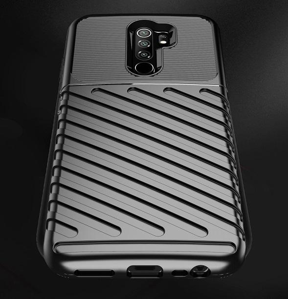 Ударопрочный чехол темно-синего на Xiaomi Redmi 9, серия Onyx от Caseport