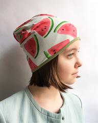 Детская шапочка бини с принтом Арбуз