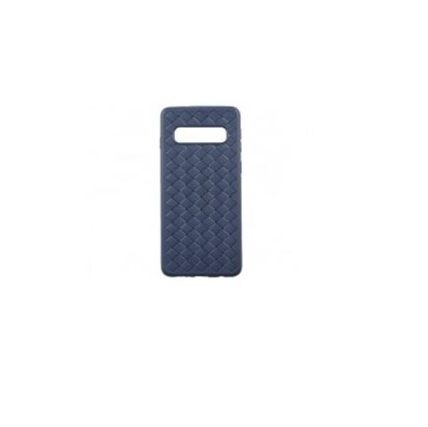 Чехол для Samsung S10 (G973F) | серия плетение синий