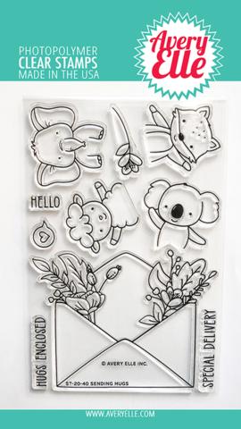 Набор штампов Avery Elle Clear Stamps - Sending Hugs
