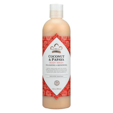Duş üçün gel \ Гель для душа \ Body Wash, Coconut & Papaya, 13 fl oz (384 ml)