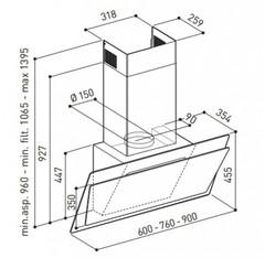 Вытяжка Korting KHC 67070 GN - схема