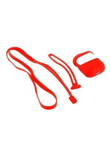 Кейс для Airpods 1/2 с шнурком | красный
