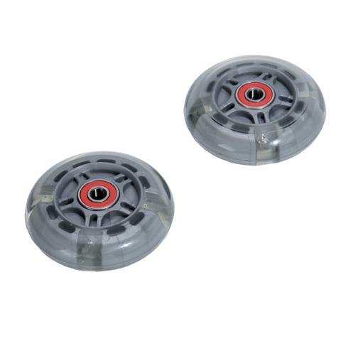 светящееся колесо 80 мм серое