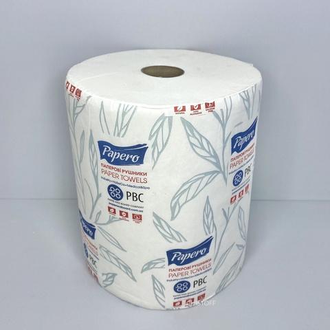 Полотенце бумажное  Papero Джамбо 2сл. 150 м без перфорации белое (RL027)