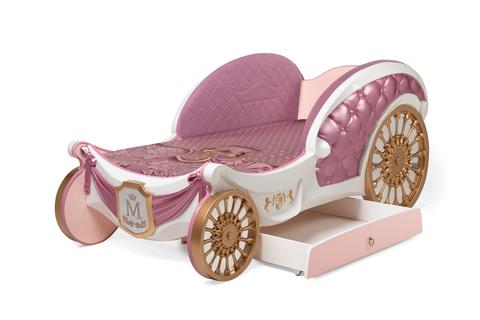 Детская кровать-карета Рапунцель для девочек