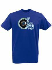 Футболка с принтом Знаки Зодиака, Рак (Гороскоп, horoscope) синяя 004