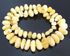 бусы из натурального янтаря 55 см