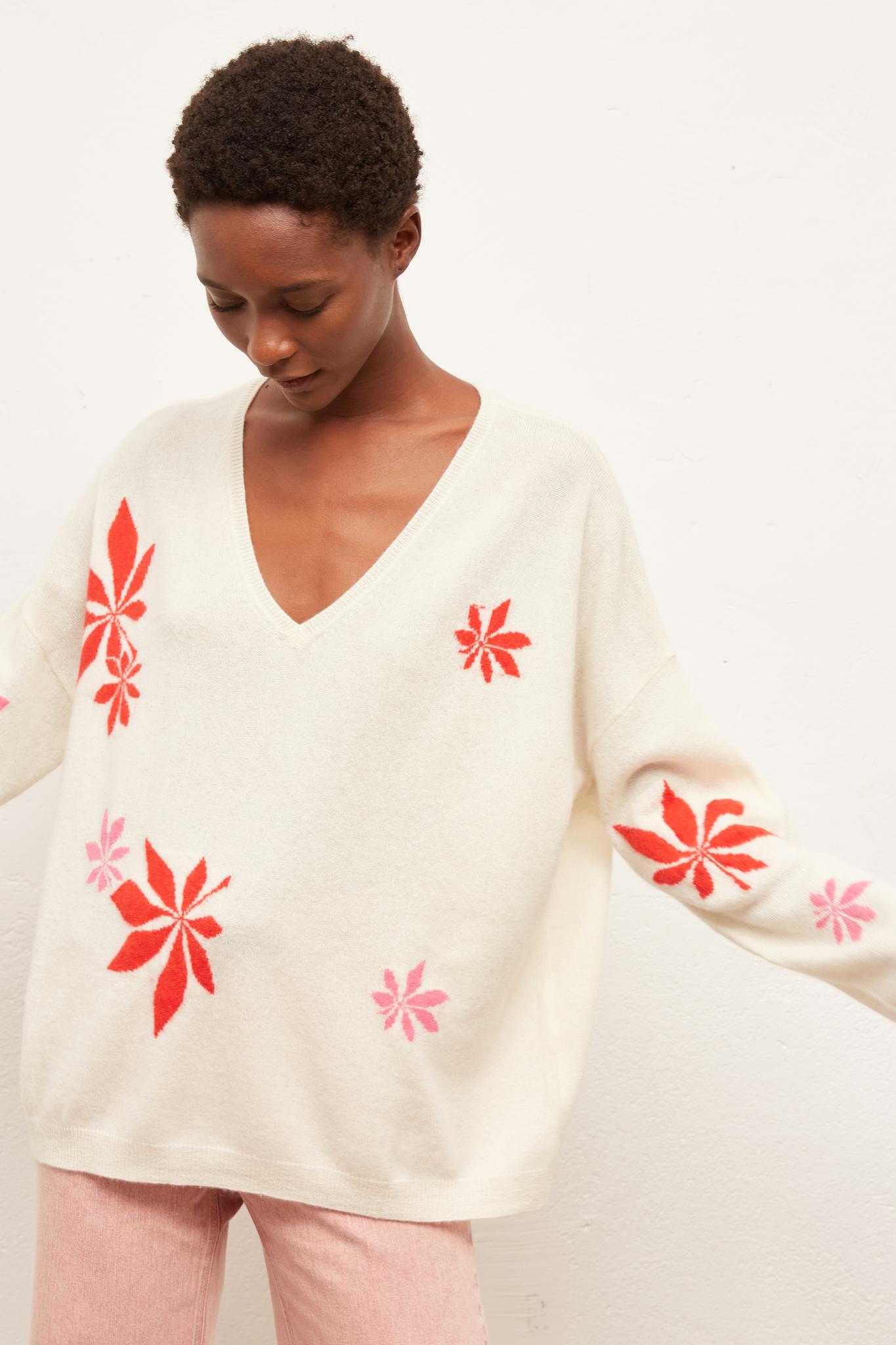 EDDY - кашемировый свитер с цветами