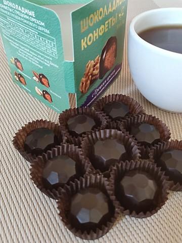 Конфеты шоколадные с Грецким орехом (дробленым) на пекмезе 60 г
