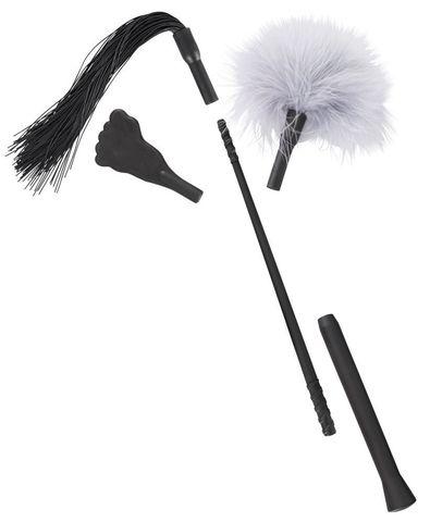 Черный флоггер с 3 сменными наконечниками