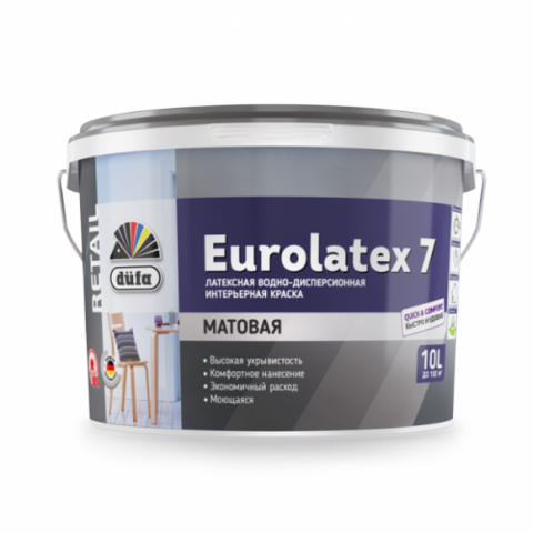 Водно-дисперсионная краска Düfa Retail EUROLATEX 7.