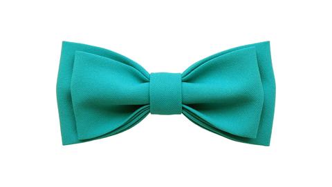 Однотонный галстук - бабочка (темно-бирюзовый)