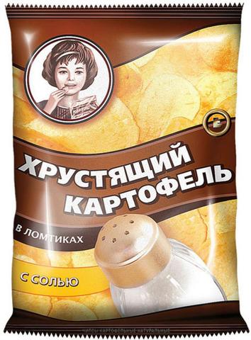 Чипсы Хрустящий картофель соль Алкомаркет